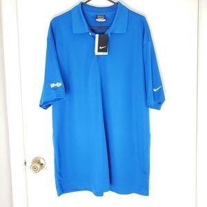 NIke Golf Dri Fit Size XL Blue S/S Polo Shirt